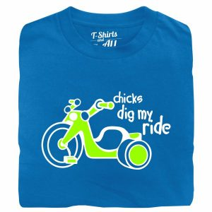 chicks dig mt ride royal tshirt