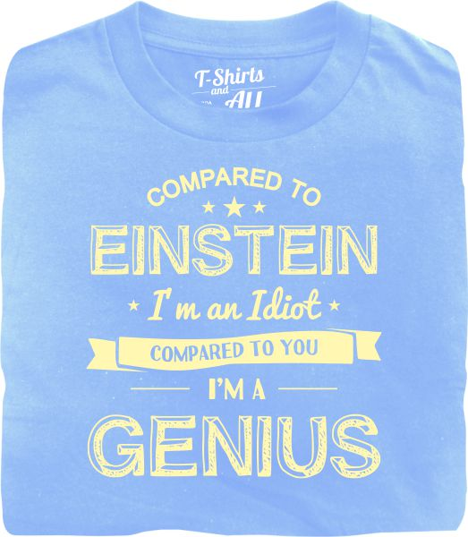 einstein bege sky blue t-shirt