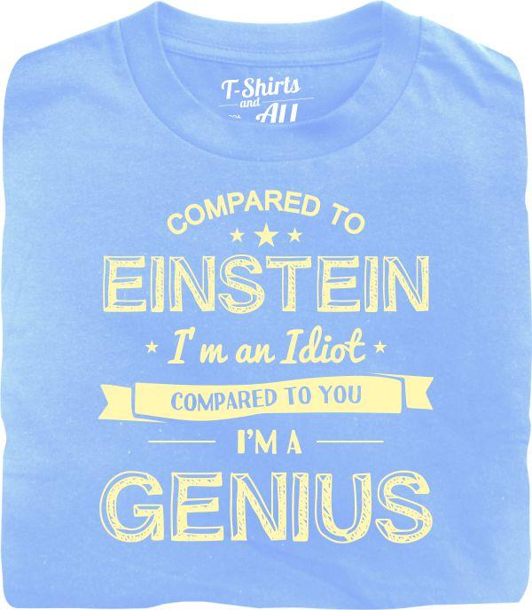 einstein bege sky blue t-shirt