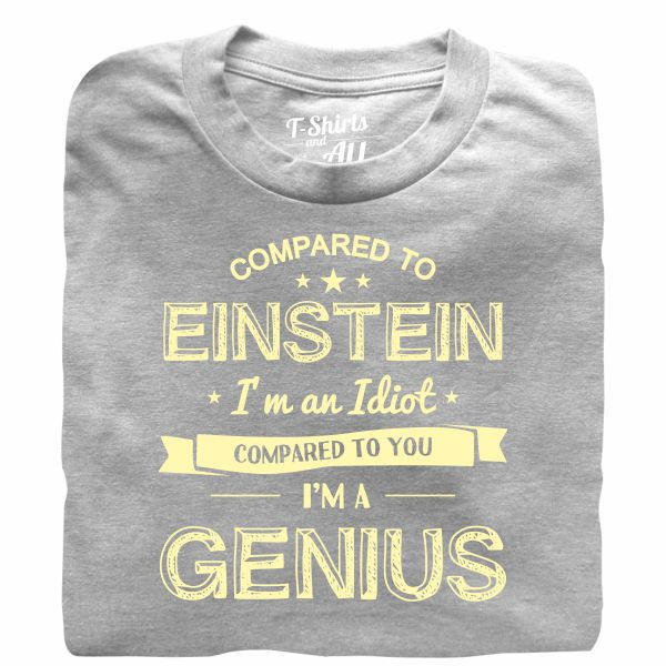 einstein heather grey t-shirt