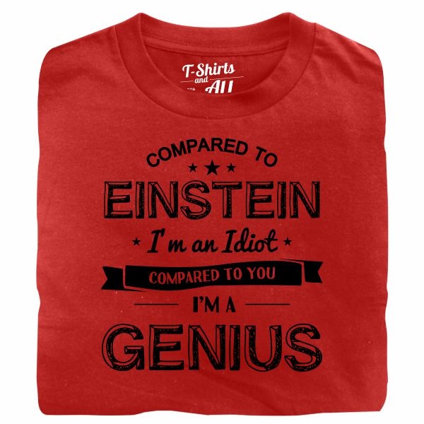 einstein red t-shirt