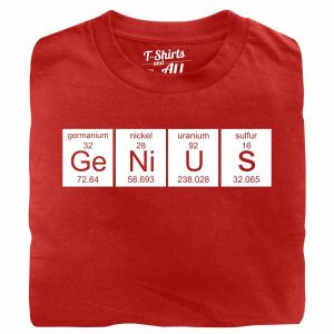 genius red t-shirt