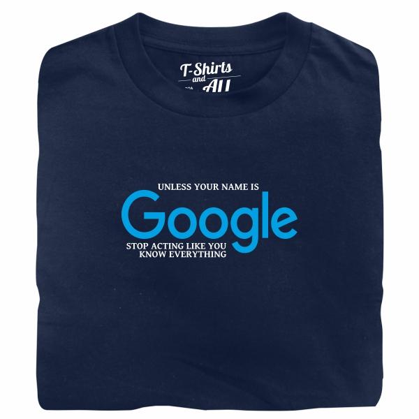 google navy tshirt