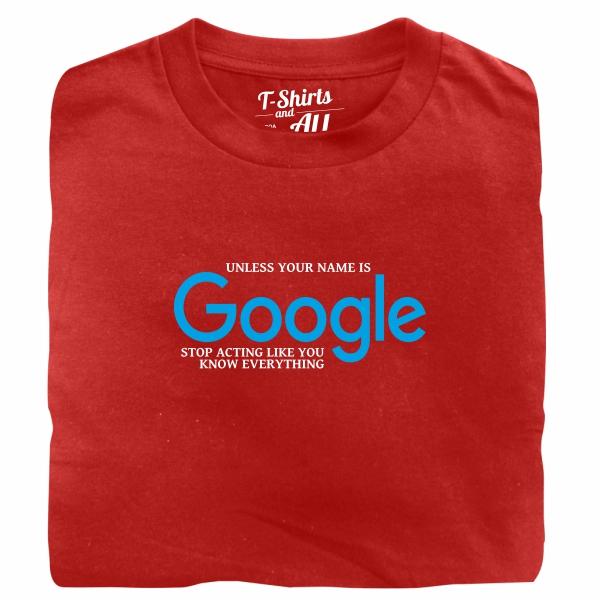 google red tshirt