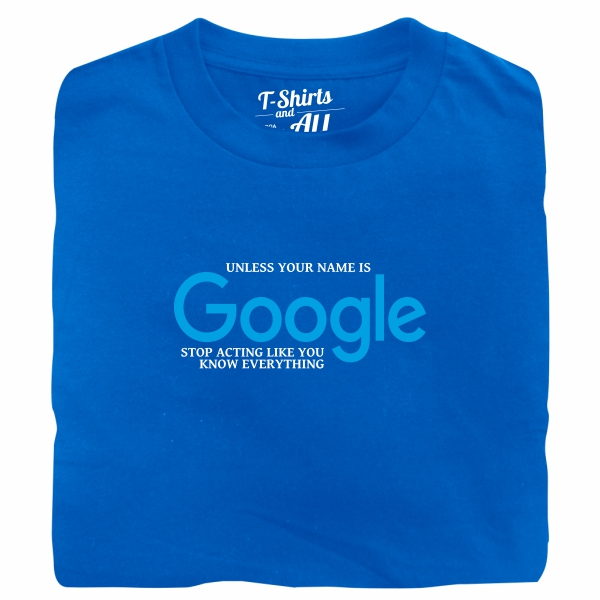 google royal tshirt
