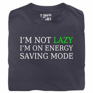i'm not lazy denim t-shirt