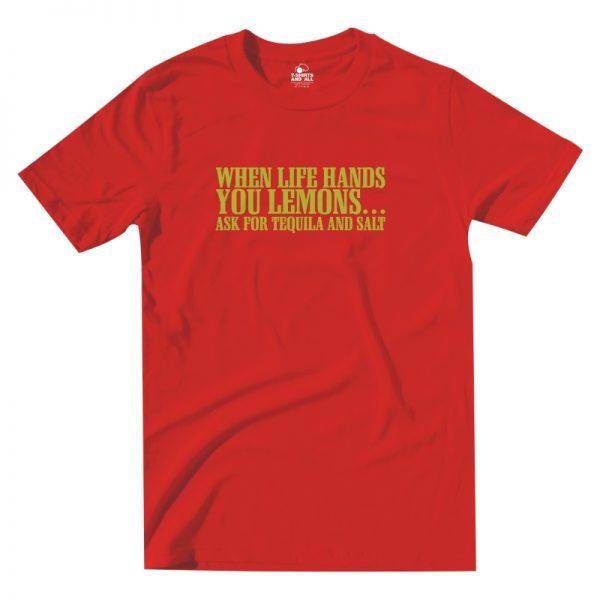 lemons red t-shirt