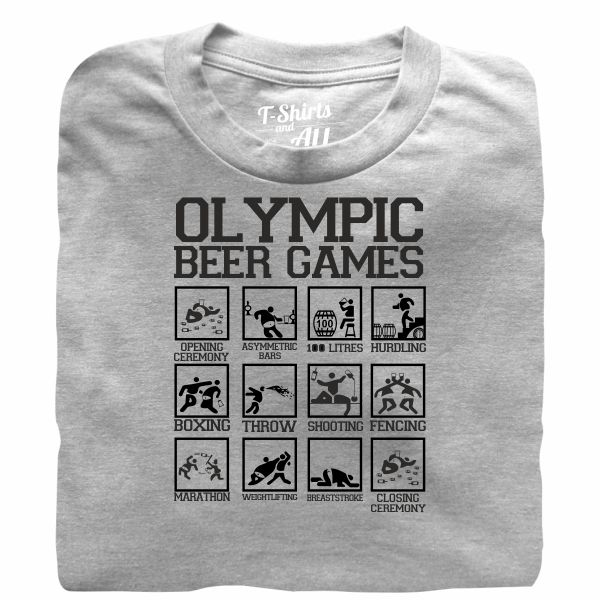 olympic beer games heather grey t-shirt