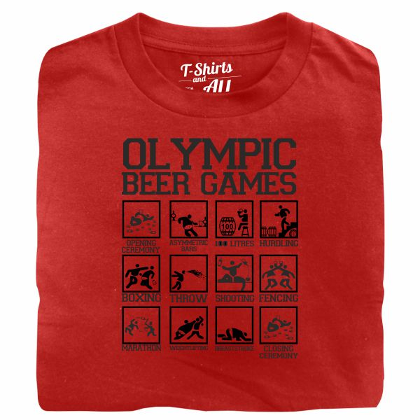 olympic beer games red t-shirt
