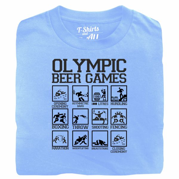 olympic beer games sky blue t-shirt