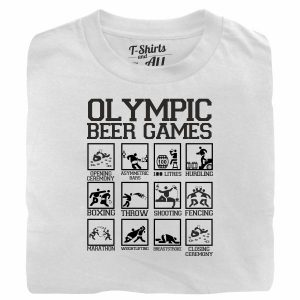 olympic beer games white t-shirt