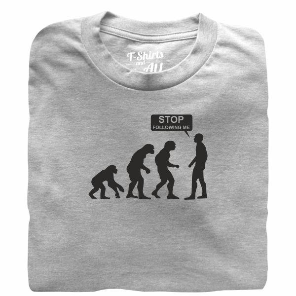 stop following me heather grey t-shirt
