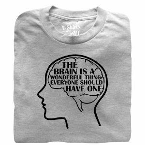 the brain is a wonderfull grey t-shirt