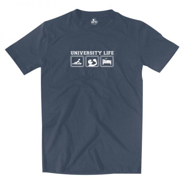 university life denim t-shirt