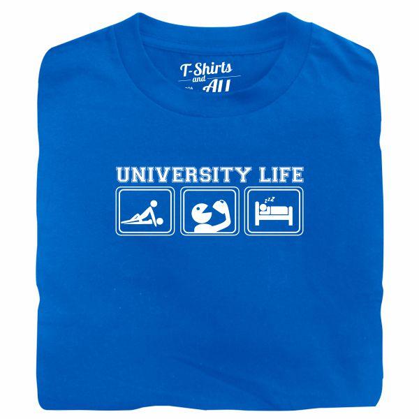 university life royal blue t-shirt