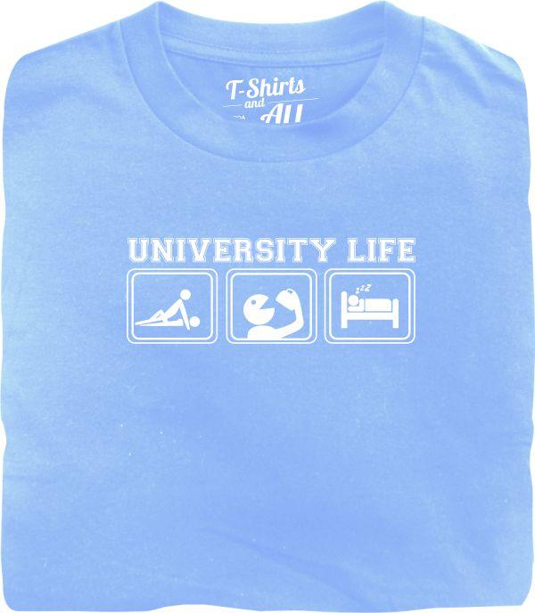 university life sky blue t-shirt