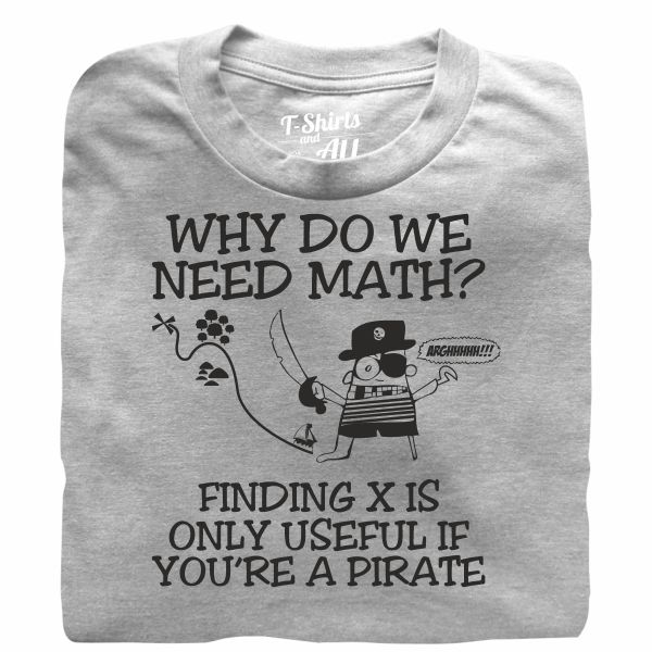why do we need math heather grey t-shirt