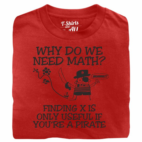 why do we need math red t-shirt