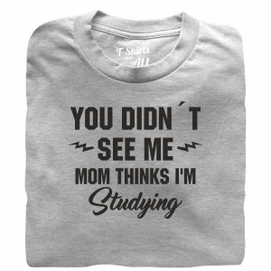 you didn't see me heather grey t-shirt