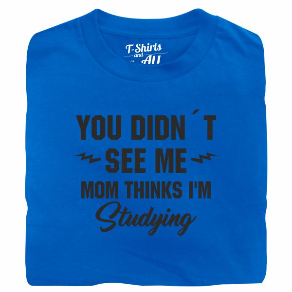 you didn't see me royal blue t-shirt
