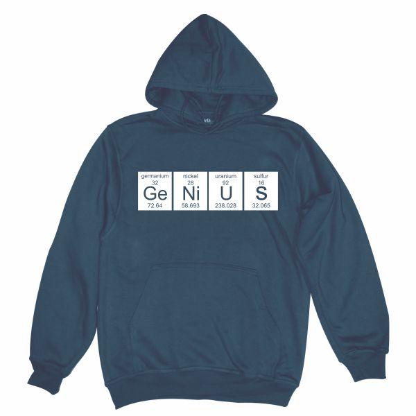 genius navy blue hoodie