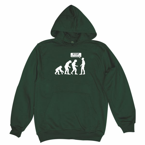 STOP FOLLOWING ME GREEN HOODIE