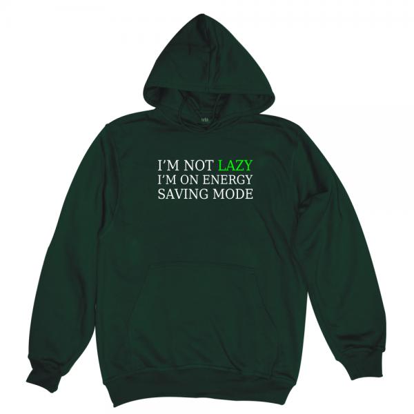 lazy man bottle green hoodie