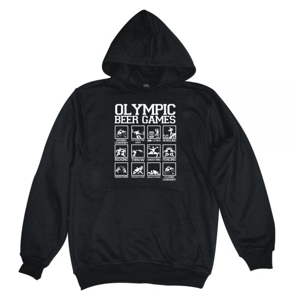 olympic beer games black man hoodie