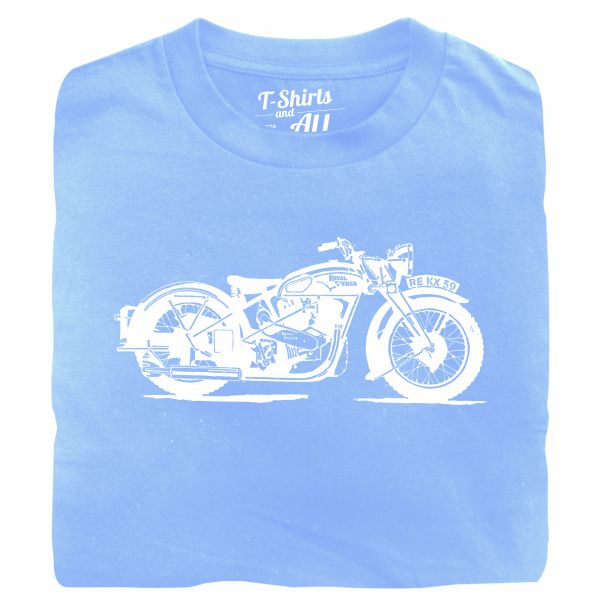 royal enfield sky blue tshirt