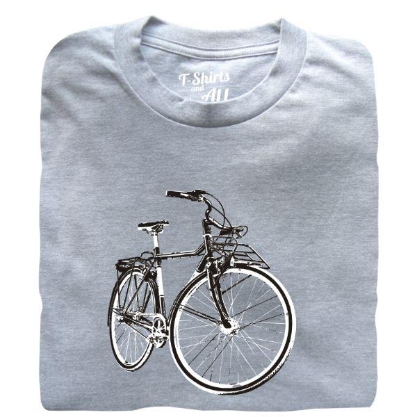 vintage bike man t-shirt heather grey