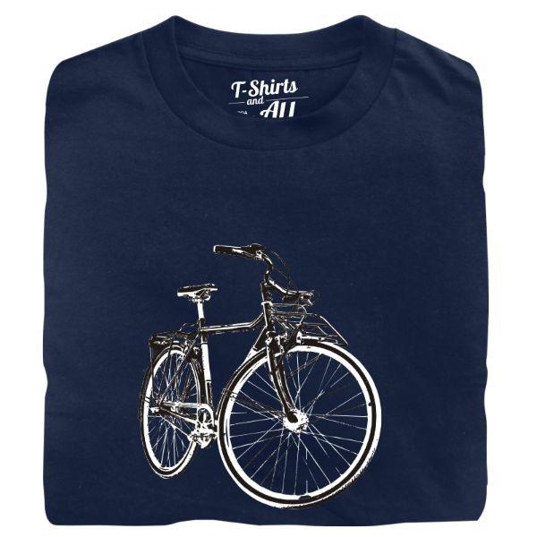 vintage bike man t-shirt navy blue