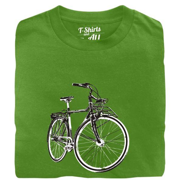 vintage bike man t-shirt real green