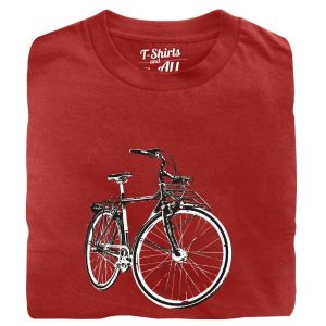 vintage bike man t-shirt red