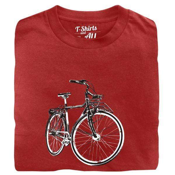vintage bike man t-shirt red