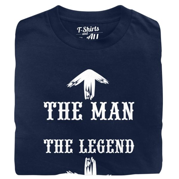 The man the legend man t-shirt navy blue