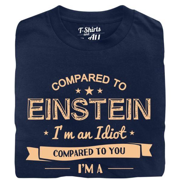 compared to einstein man t-shirt navy