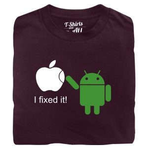i fixed it man burgundy t-shirt