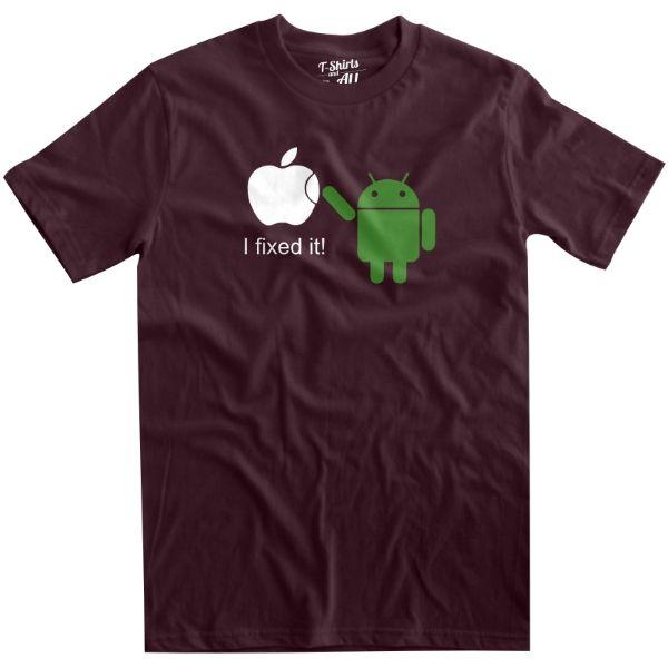 i fixed it man burgundy t-shirt