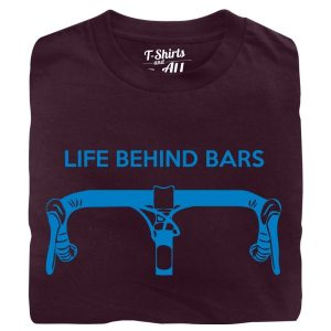 life behind bars man t-shirt burgundy