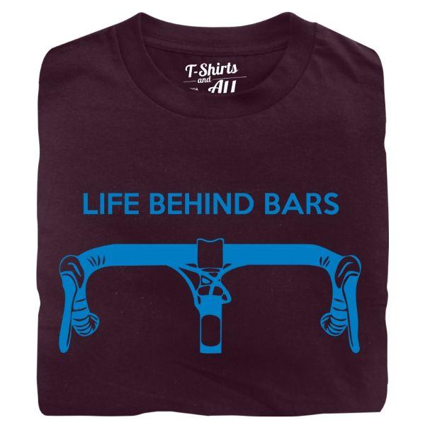 life behind bars man t-shirt burgundy
