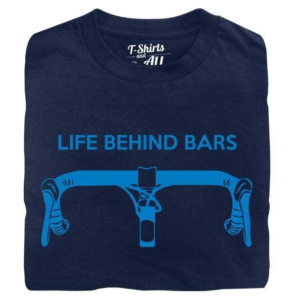 life behind bars man t-shirt navy blue