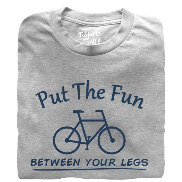 put the fun between your legs man t-shirt heather grey