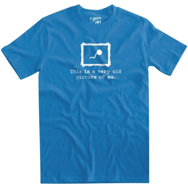 This is a very old picture man atoll t-shirt