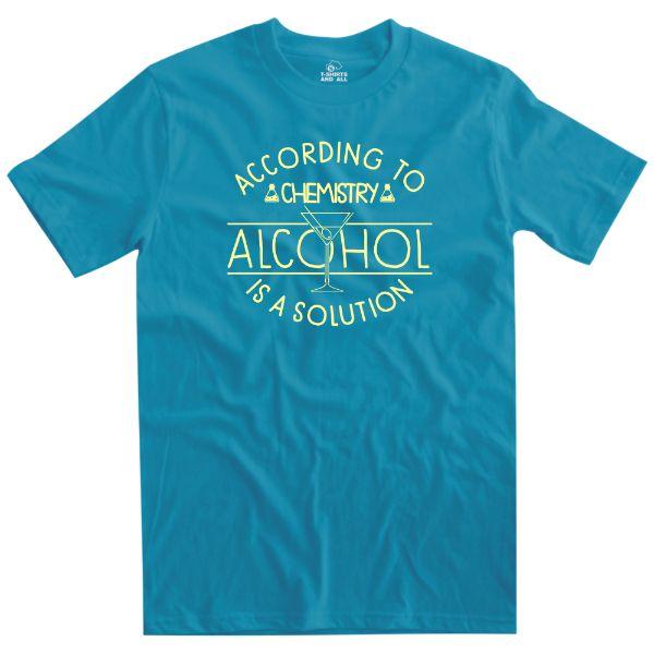 according to chemistry man atoll t-shirt