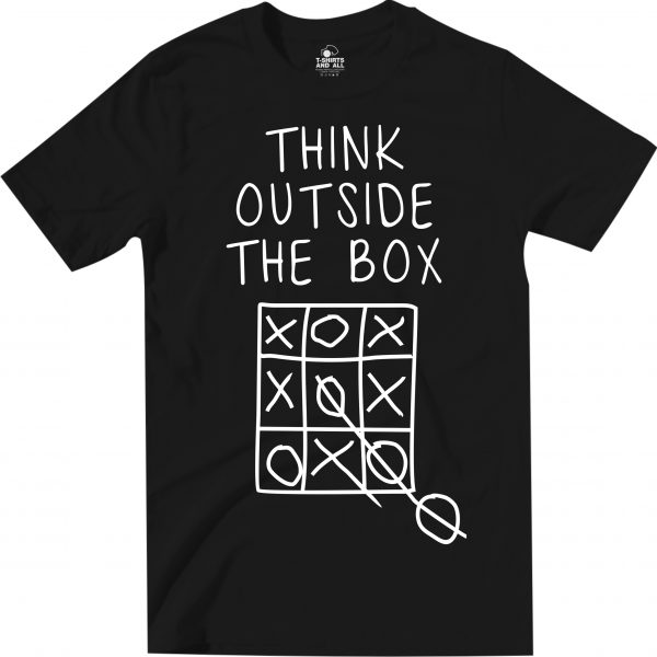think outside man black t-shirt