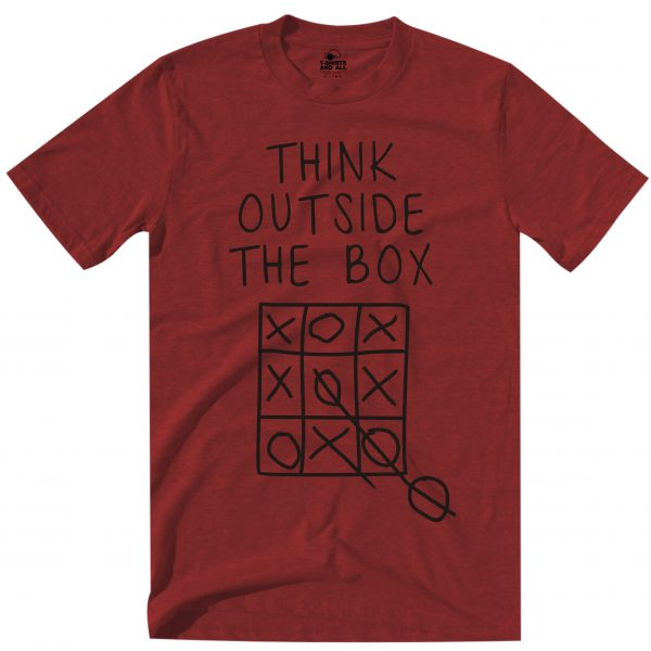 think outside man red t-shirt