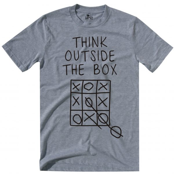 think outside man heather grey t-shirt