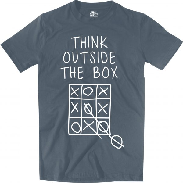 think outside man denim t-shirt