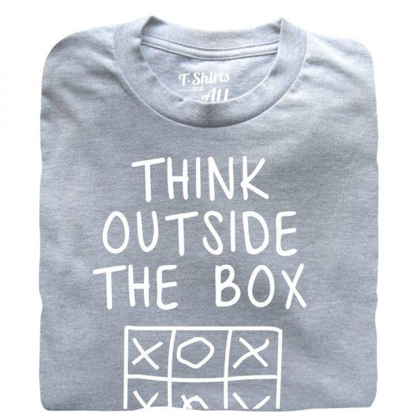think outside the box Man heather grey t-shirt