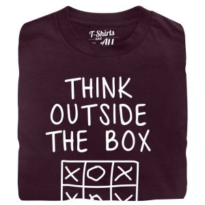 think outside the box Man t-shirt burgundy t-shirt